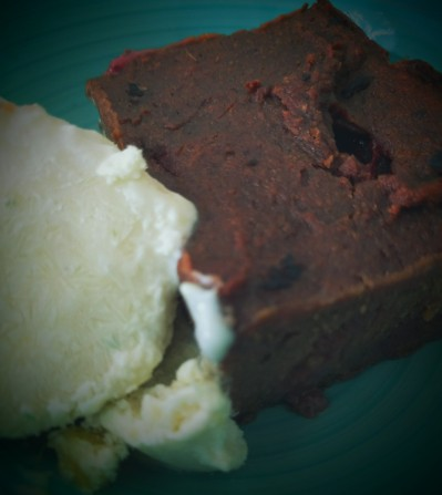 Strawberry Vegan Chocolate Brownie