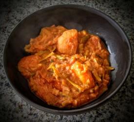 Potato and leek curry 2