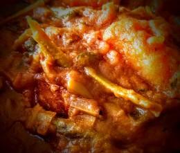 Potato and leek curry 9