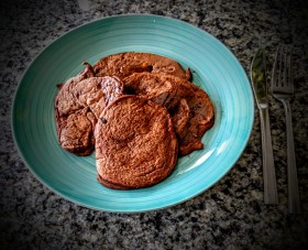Chocolate Sweet Potato Pancakes 8