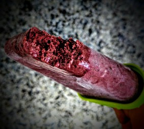 Blackberry and Cherry Smoothie Ice Lollies 4