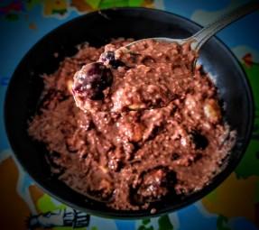 Choc Cherry Porridge 3