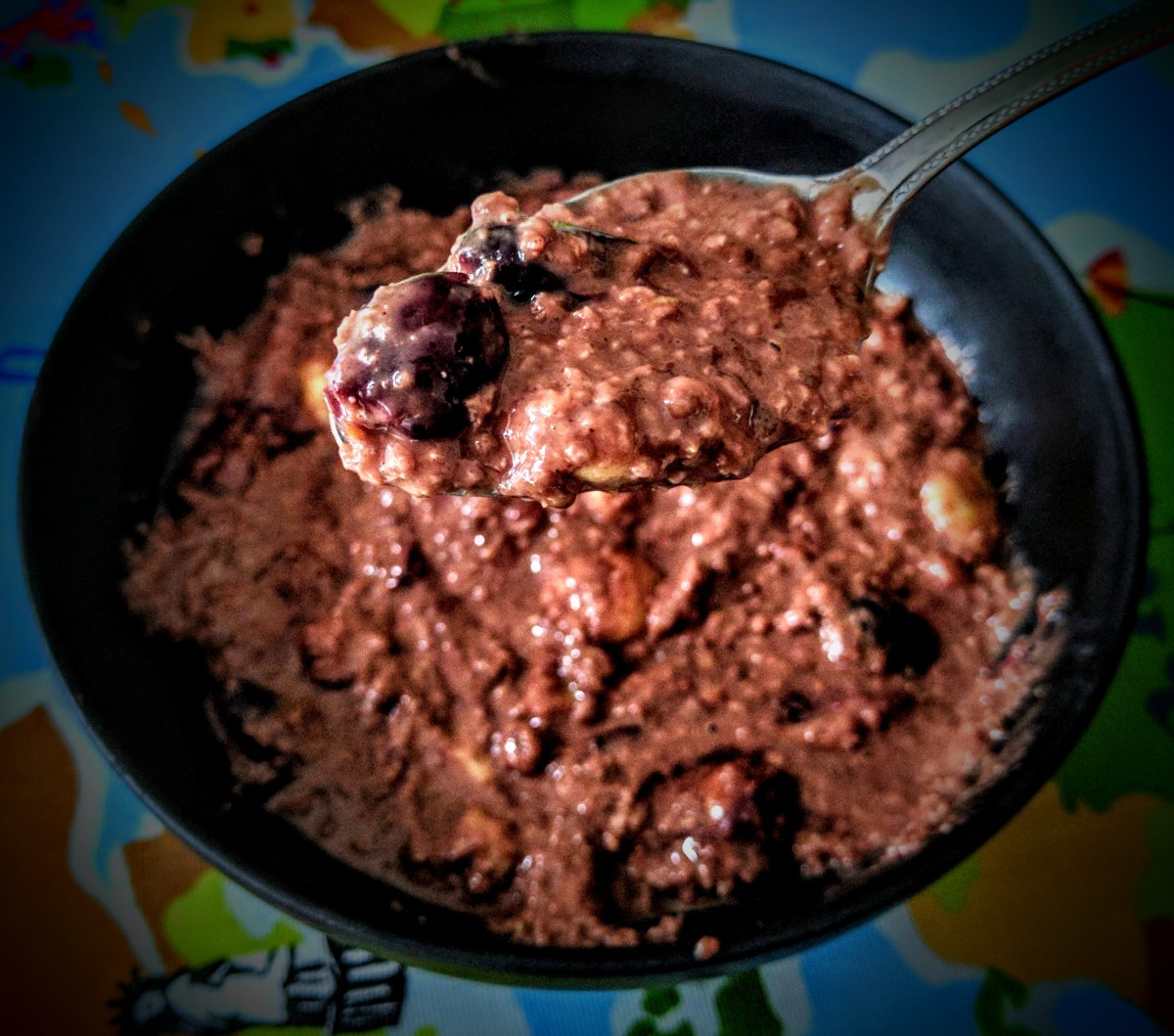 Choc Cherry Porridge 7