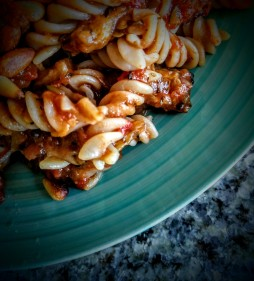 Roasted Aubergine and Tomato Pasta with Toasted Pine Nuts 2