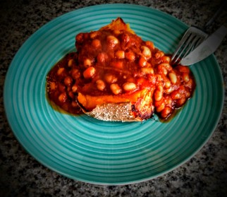 Spicy Baked Beans and Sweet Potato Jacket 5