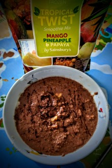 Chocolate Tropical Fruit Porrigde 2