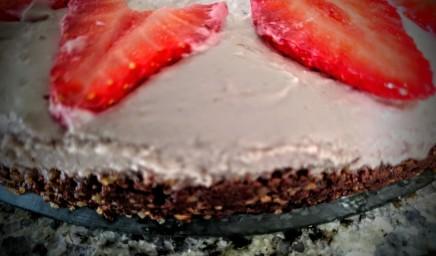 Vegan Raw Strawberry and Chocolate Cheesecake 5
