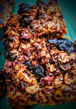 Dried Prunes and Chocolate Chips Flapjacks 3