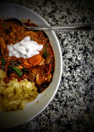 Aubergine and Black Bean Curry 5