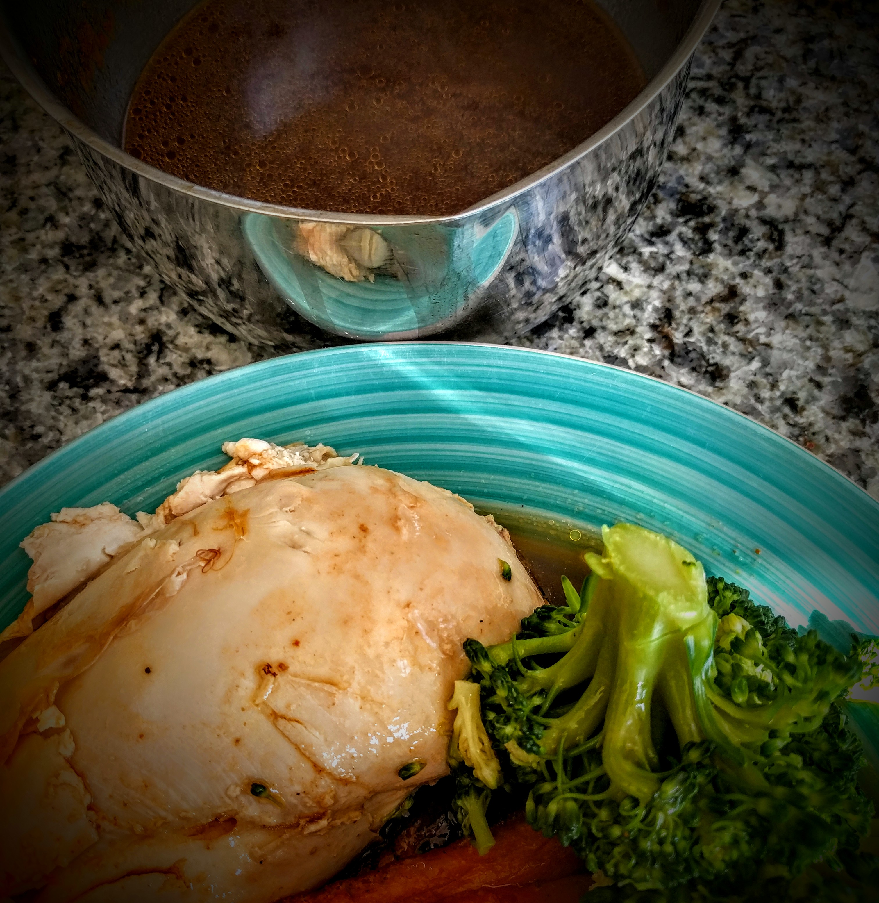 Roast Chicken with Dad's Beer Gravy