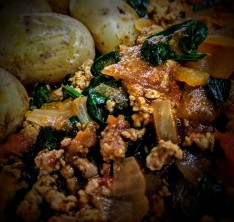 Turkey Madras with Potatoes and Spinach 2
