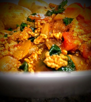 Turkey Madras with Potatoes and Spinach 7