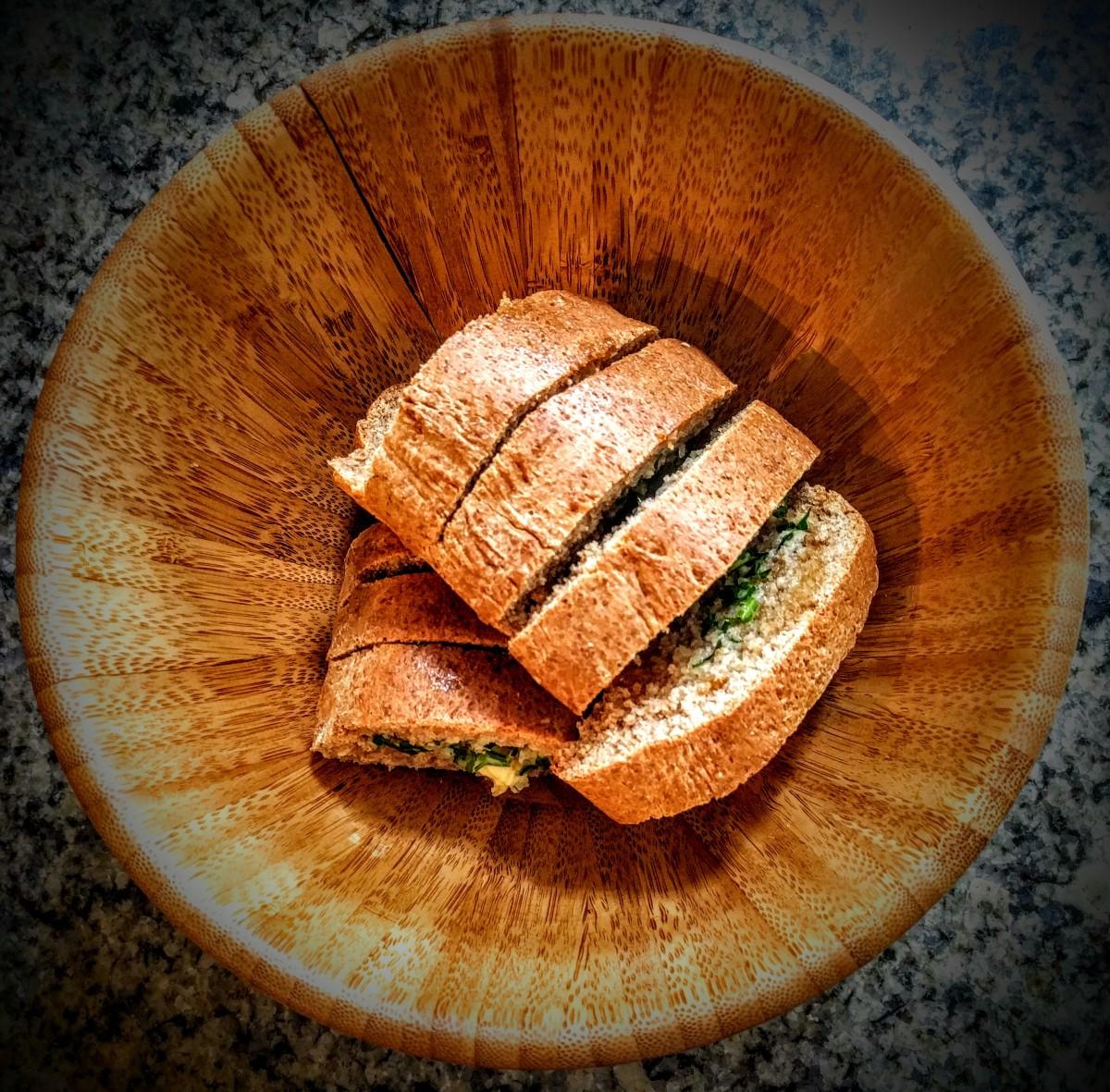 Dad's Garlic Bread 6