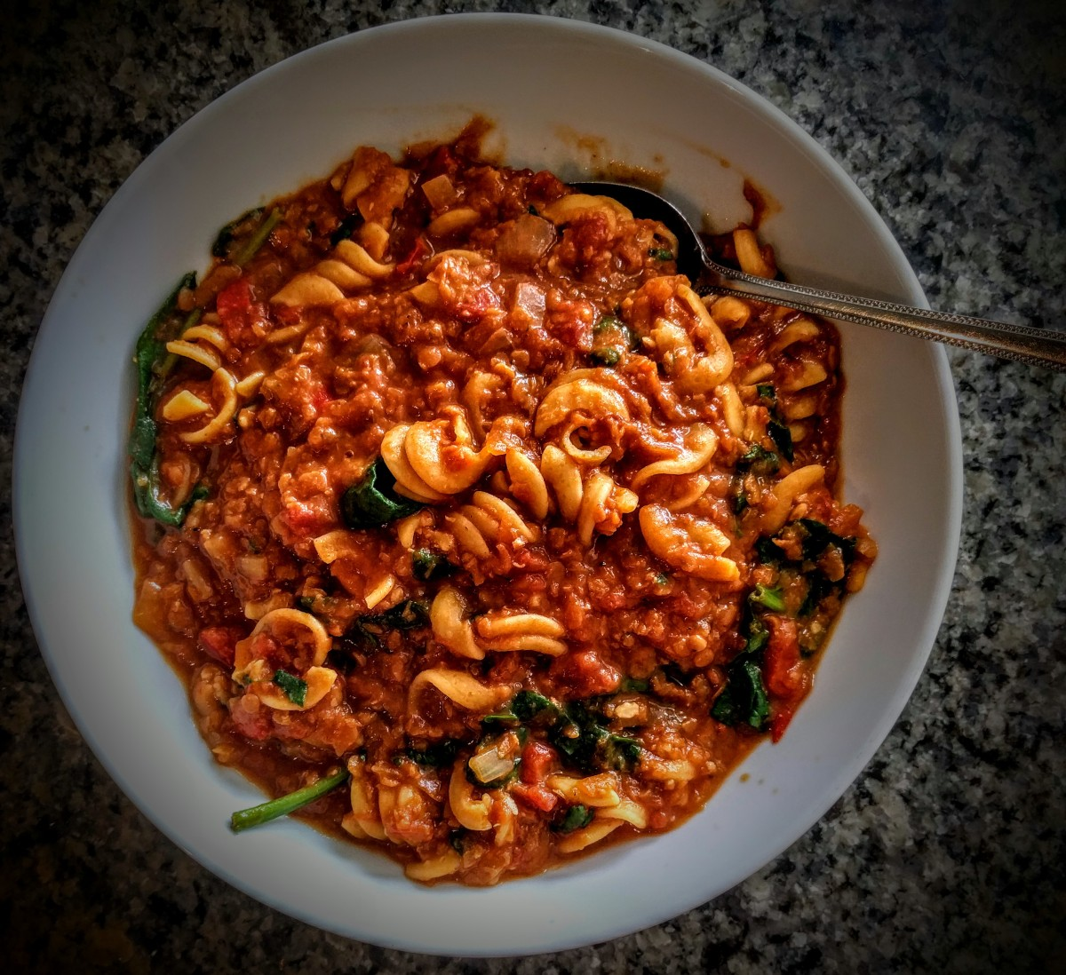 Red Lentil Curry and Chickpea Pasta 6