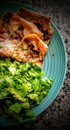 Cheesy Smoked Salmon Pizza 1