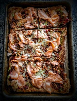 Cheesy Smoked Salmon Pizza 5