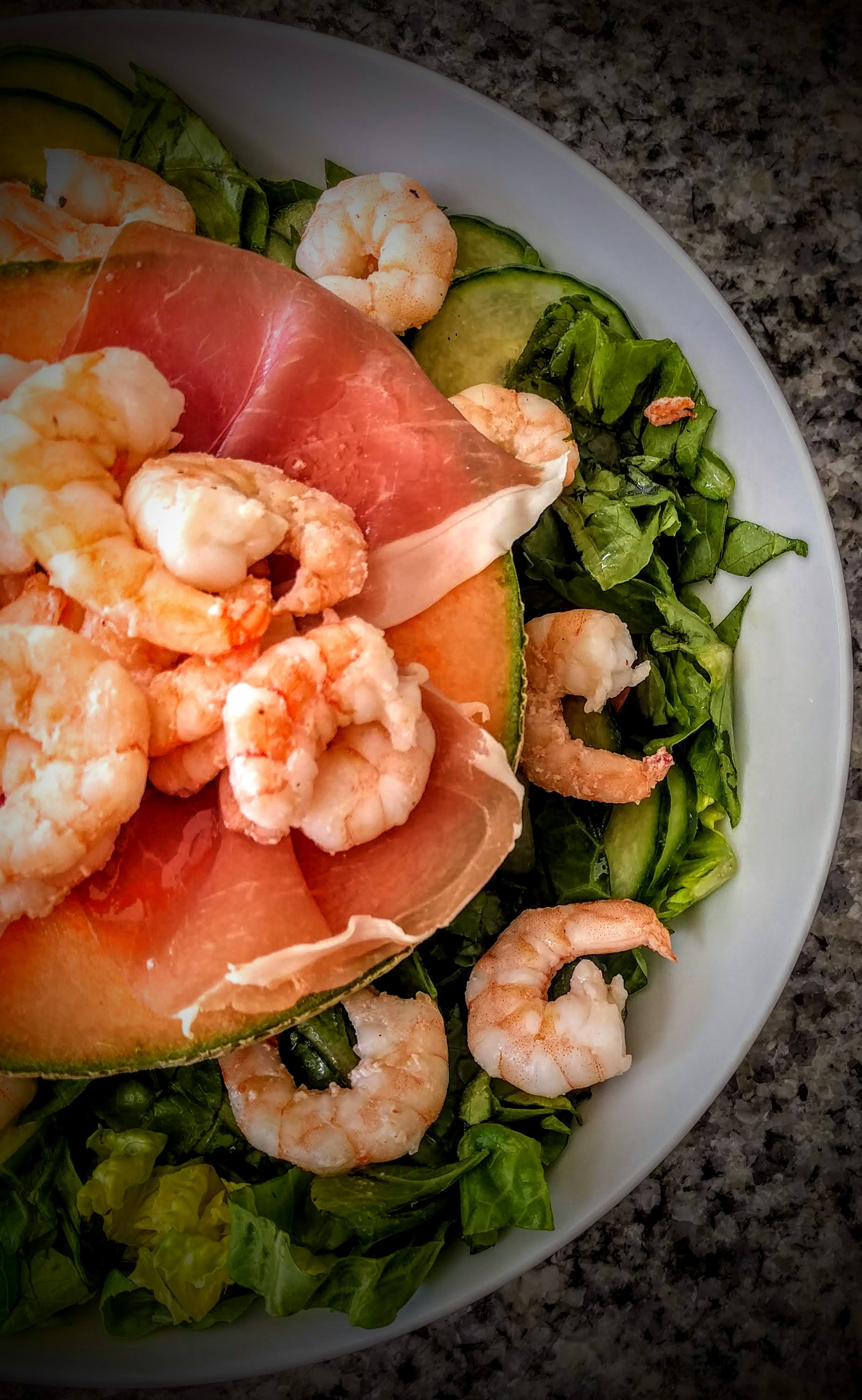 Prawns with Palma Ham and Melon 2