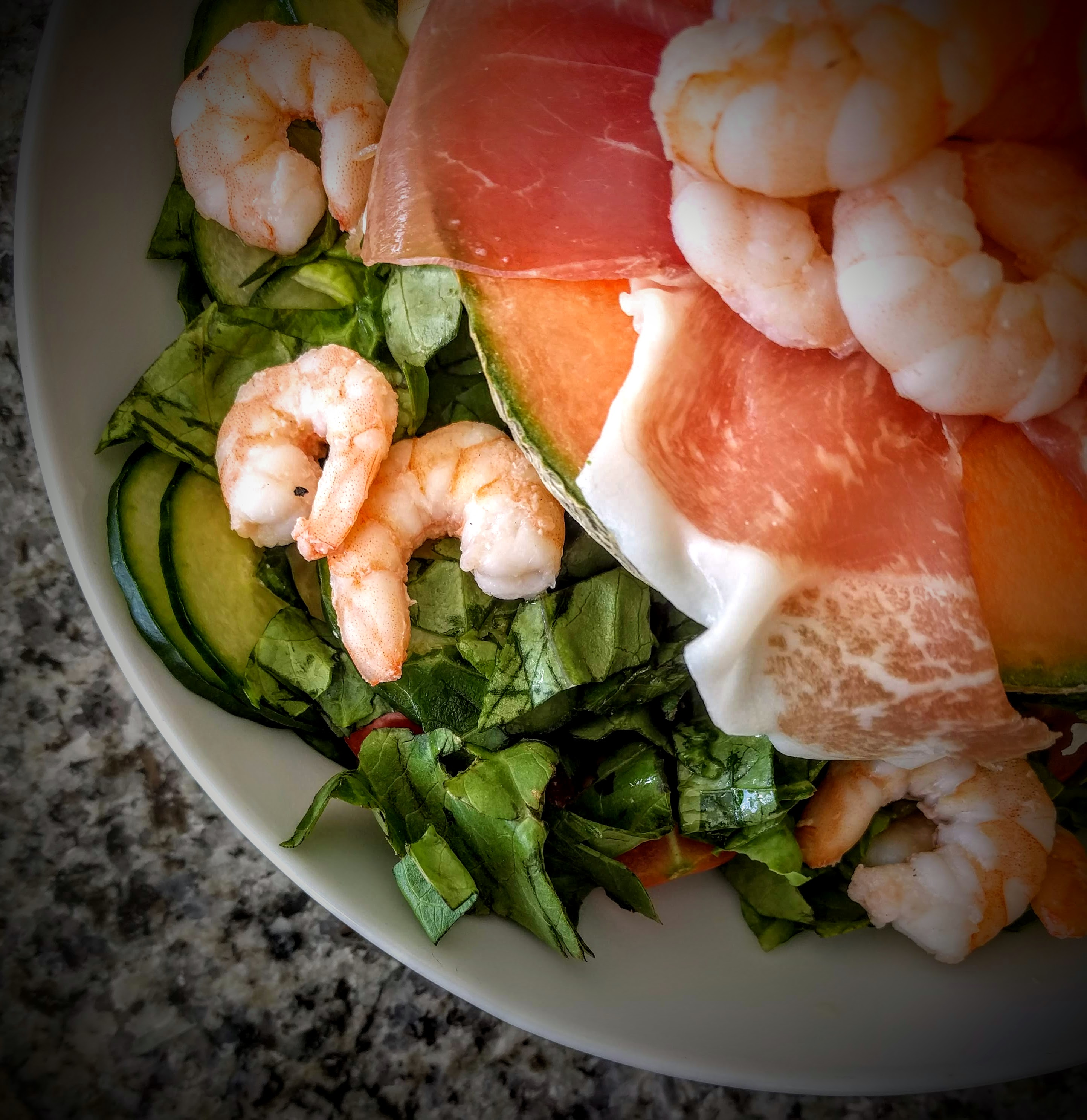 Prawns with Palma Ham and Melon 3