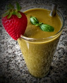 Strawberries and Basil Smoothie 2