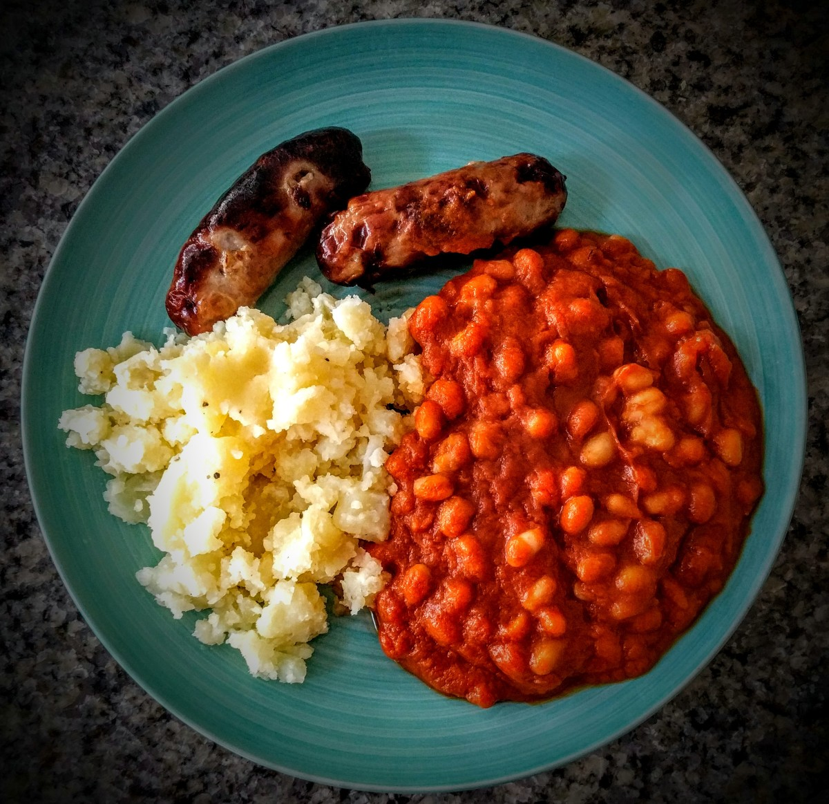 Sausage, the Best Mash Potato and Homemade Beans 3