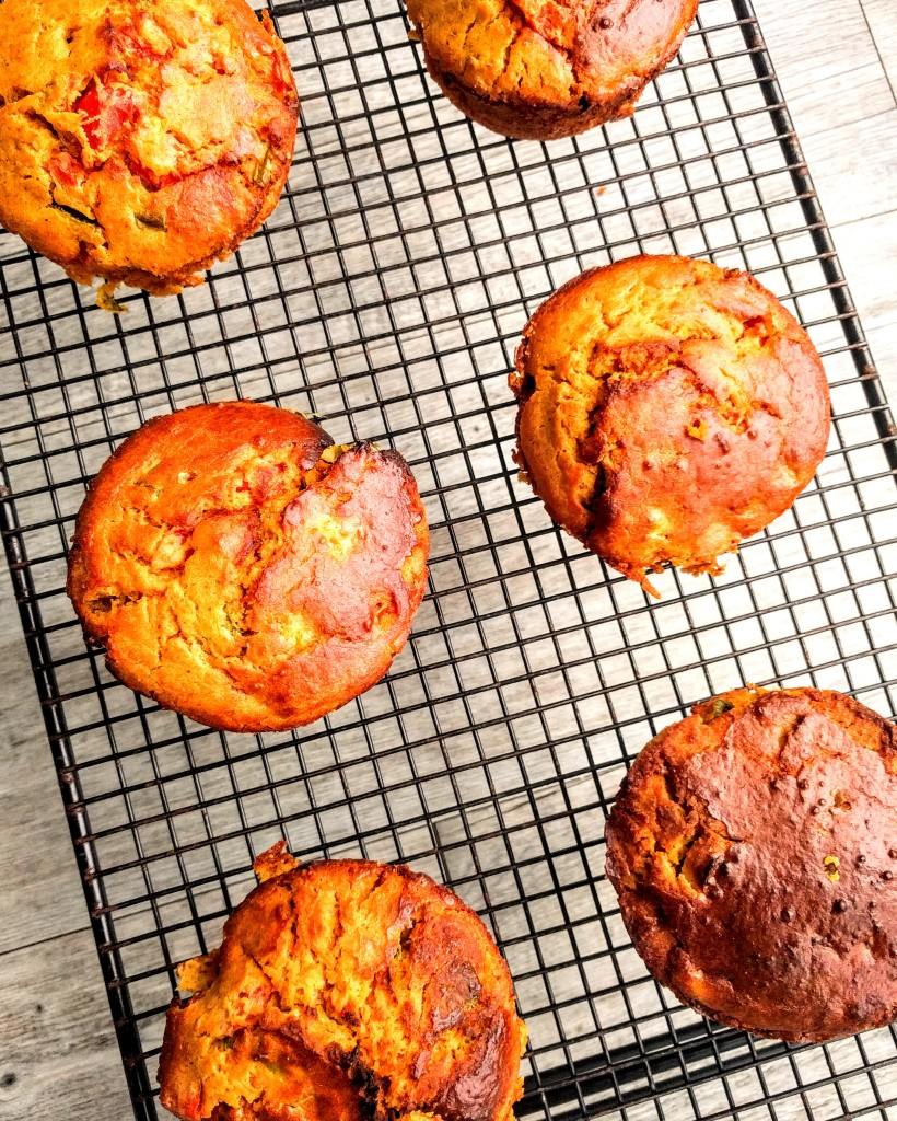 This image has an empty alt attribute; its file name is vegan-red-pepper-sweet-potato-and-chickpea-muffins-3.jpg