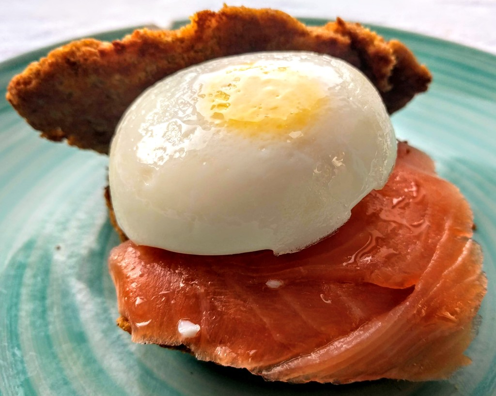 This image has an empty alt attribute; its file name is smoked-salmon-pouched-egg-and-sweet-potato-pancakes-5.jpg